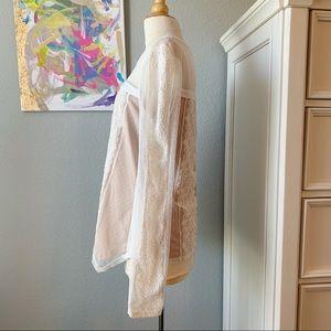 BCBGMaxAzria Tops - BCBG Max Azria Addyson White Lace Long Sleeve